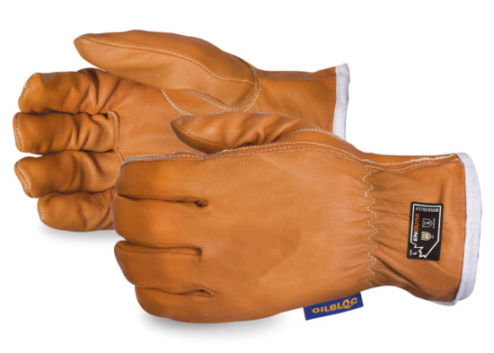 A pair of Superior Glove's Endura Extreme Cut Goat Grain Driver Gloves with Oilbloc